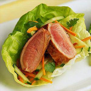 Duck Breast Lettuce Wraps
