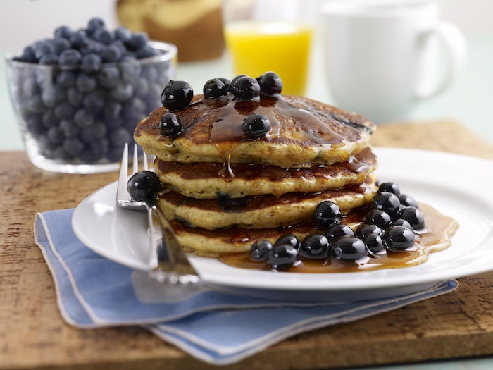 Blueberry Whole Wheat Pancakes